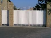 Откатные и распашные ворота калитки забор из профнастила