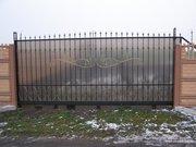 Вьездные ворота,  заборы профнастил в Херсоне, любой ценовой категории