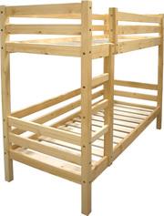 Деревянная кровать двухъярусная