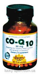 Коэнзим Q10 Country life Co-q10 (коэнзим q10) 30 капсул