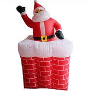 Санта надувной дымоход