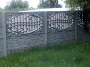Еврозаборы бетонные наборные декоративные высотой до 2, 5 метров