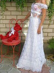 Продам новое свадебное платье из белого гипюра